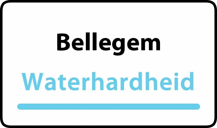 waterhardheid in Bellegem is hard water 35 °F Franse graden