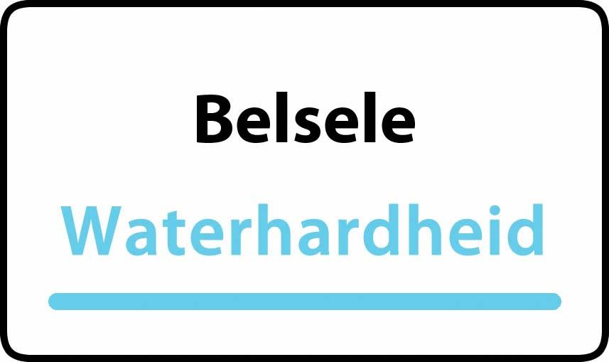 waterhardheid in Belsele is hard water 31 °F Franse graden