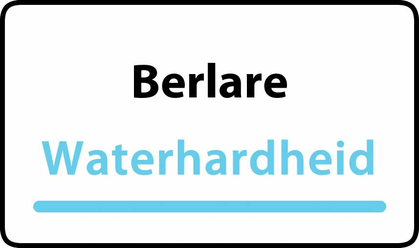 waterhardheid in Berlare is middel hard water 18 °F Franse graden