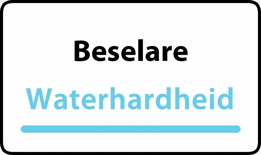 waterhardheid in Beselare is hard water 44 °F Franse graden