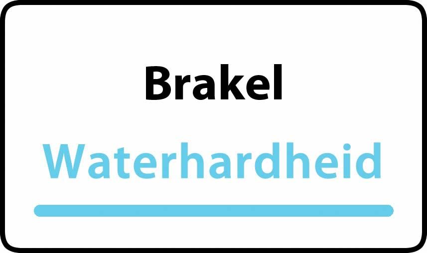 waterhardheid in Brakel is hard water 39 °F Franse graden