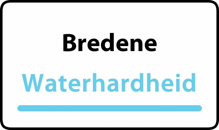 waterhardheid in Bredene is hard water 32 °F Franse graden