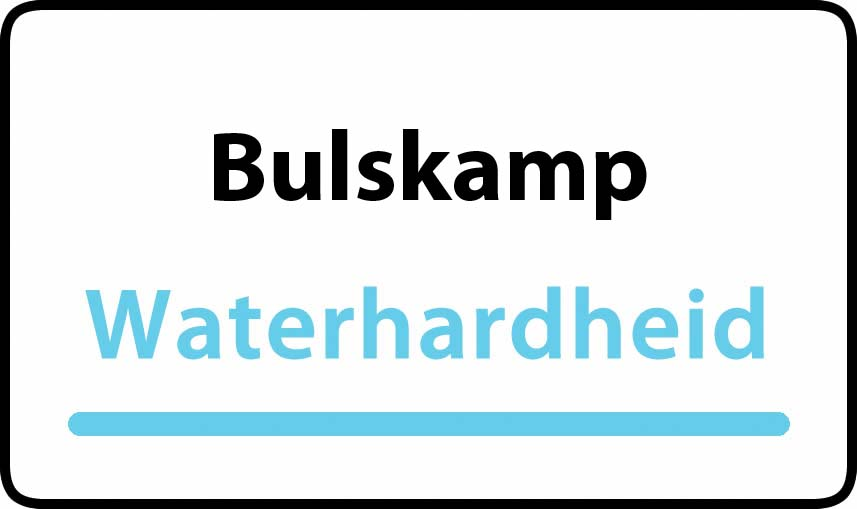 waterhardheid in Bulskamp is hard water 40 °F Franse graden