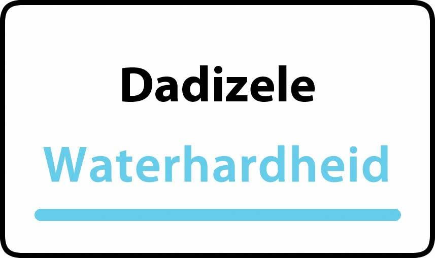 waterhardheid in Dadizele is hard water 43 °F Franse graden