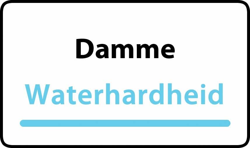 waterhardheid in Damme is hard water 32 °F Franse graden