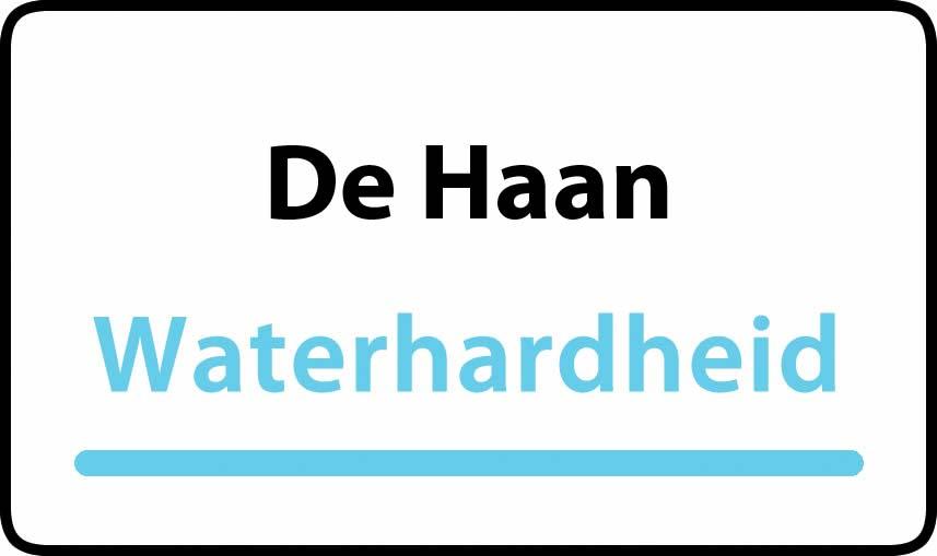 waterhardheid in De Haan is hard water 35 °F Franse graden