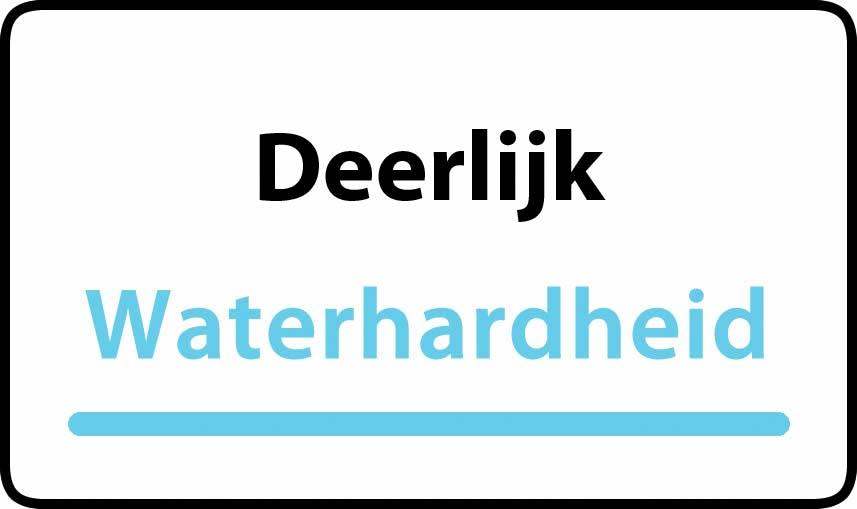 waterhardheid in Deerlijk is hard water 44 °F Franse graden