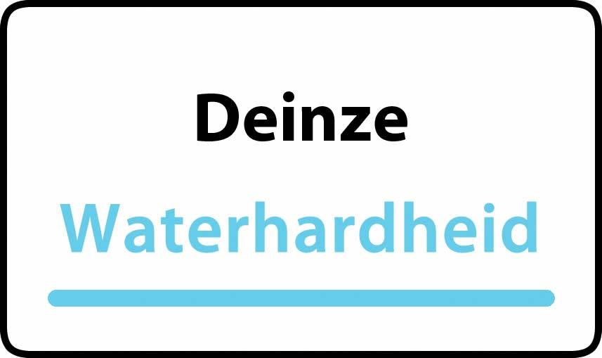 waterhardheid in Deinze is hard water 39 °F Franse graden