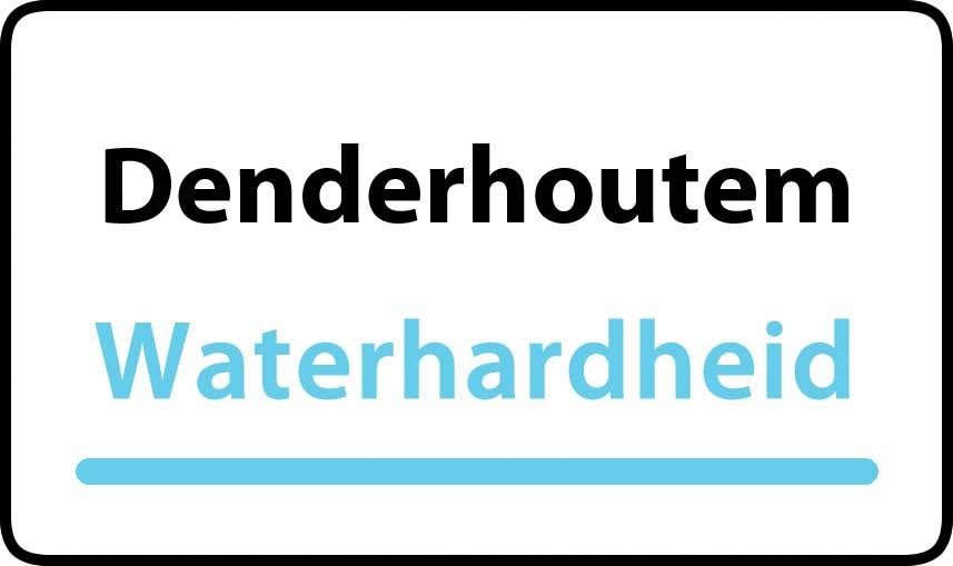 waterhardheid in Denderhoutem is zeer hard water 52 °F Franse graden