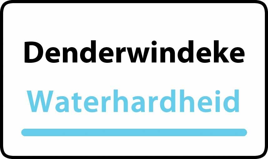 waterhardheid in Denderwindeke is hard water 39 °F Franse graden
