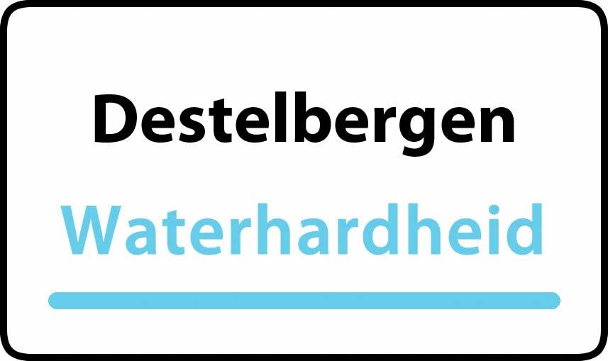 waterhardheid in Destelbergen is middel hard water 22 °F Franse graden