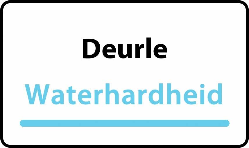 waterhardheid in Deurle is hard water 39 °F Franse graden