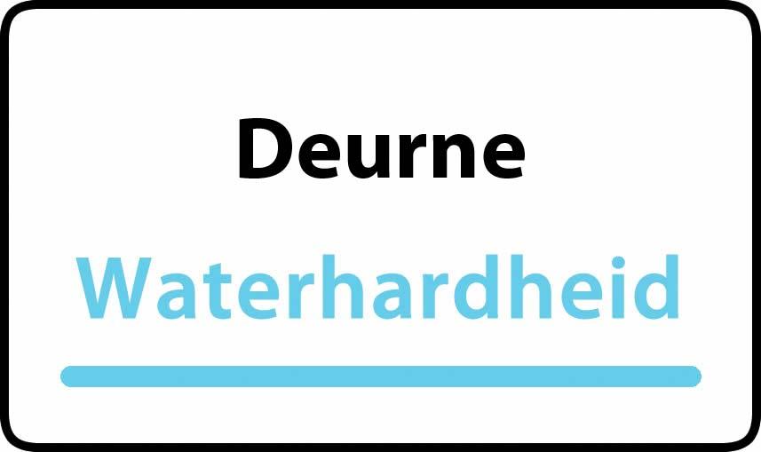 waterhardheid in Deurne is middel hard water 18 °F Franse graden