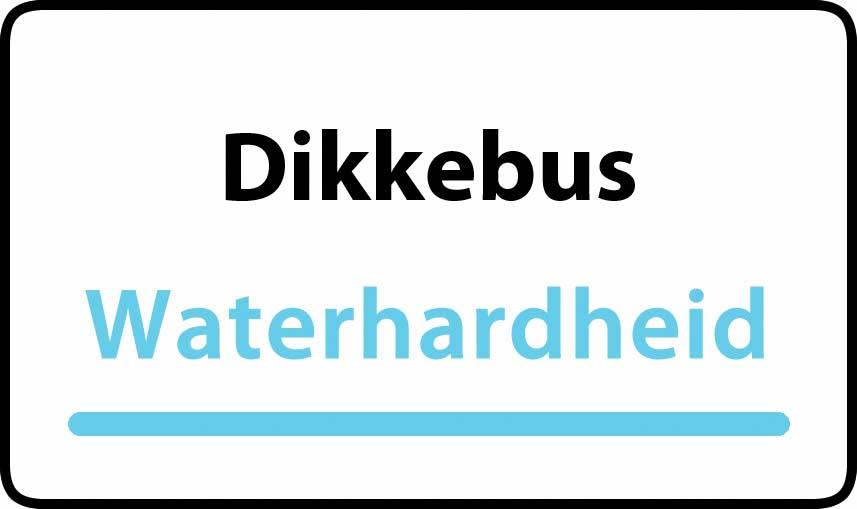 waterhardheid in Dikkebus is zeer hard water 45 °F Franse graden