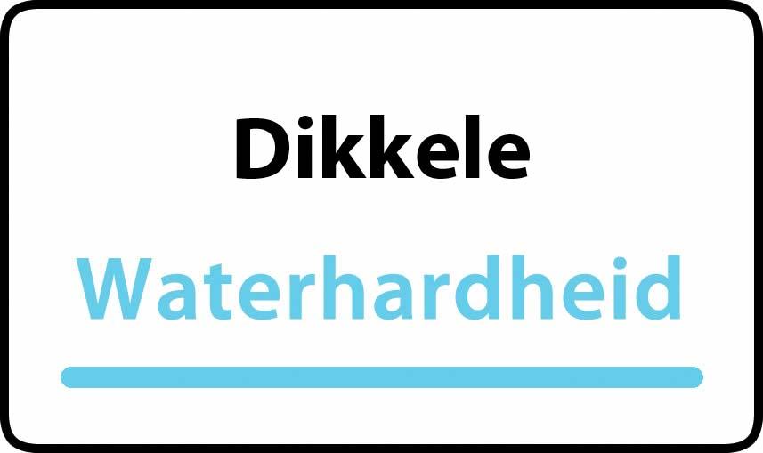 waterhardheid in Dikkele is hard water 39 °F Franse graden