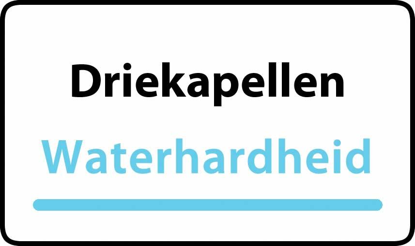 waterhardheid in Driekapellen is middel hard water 27 °F Franse graden