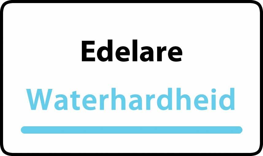 waterhardheid in Edelare is hard water 40 °F Franse graden