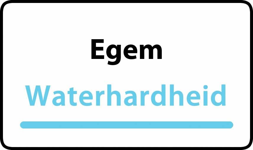 waterhardheid in Egem is hard water 30 °F Franse graden