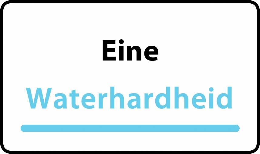 waterhardheid in Eine is hard water 40 °F Franse graden