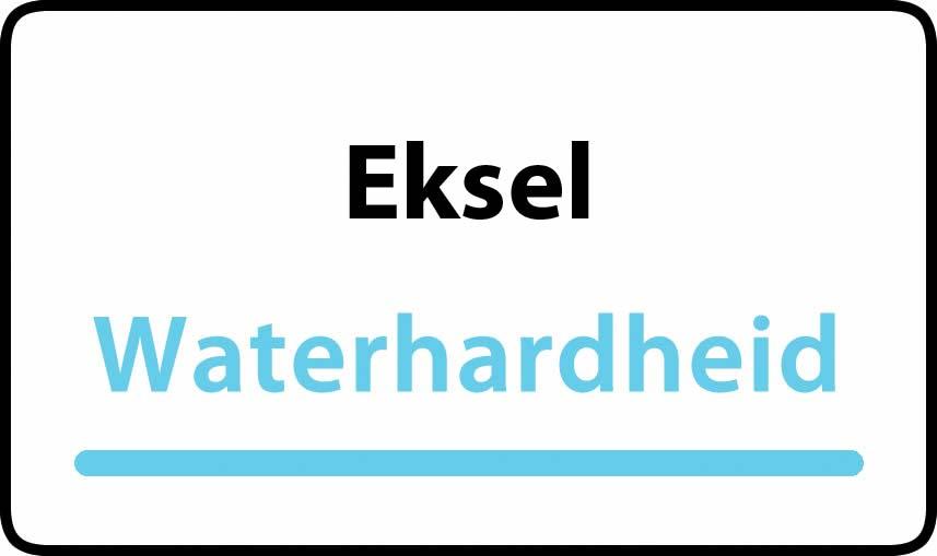 waterhardheid in Eksel is middel hard water 15 °F Franse graden