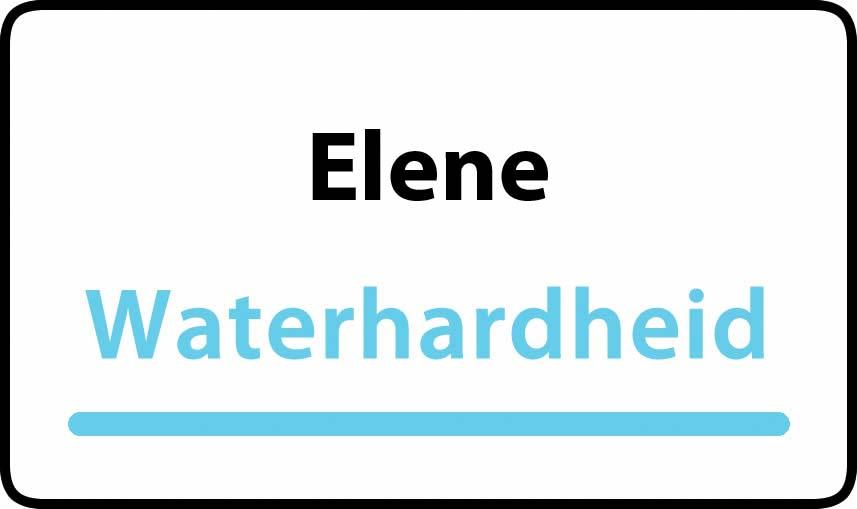 waterhardheid in Elene is hard water 39 °F Franse graden