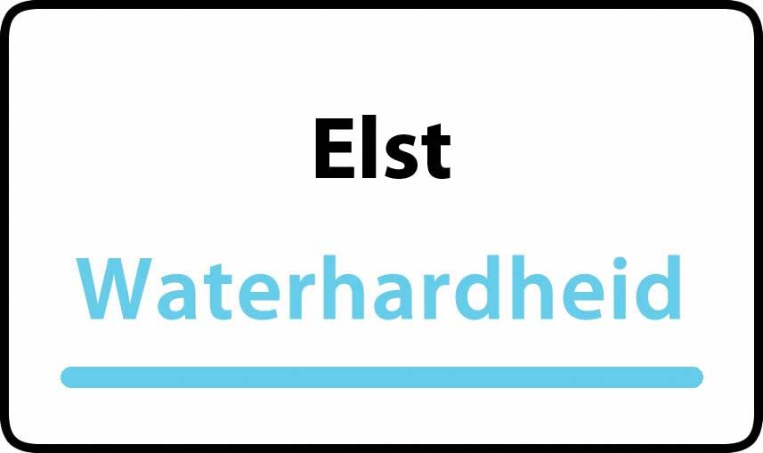 waterhardheid in Elst is hard water 39 °F Franse graden