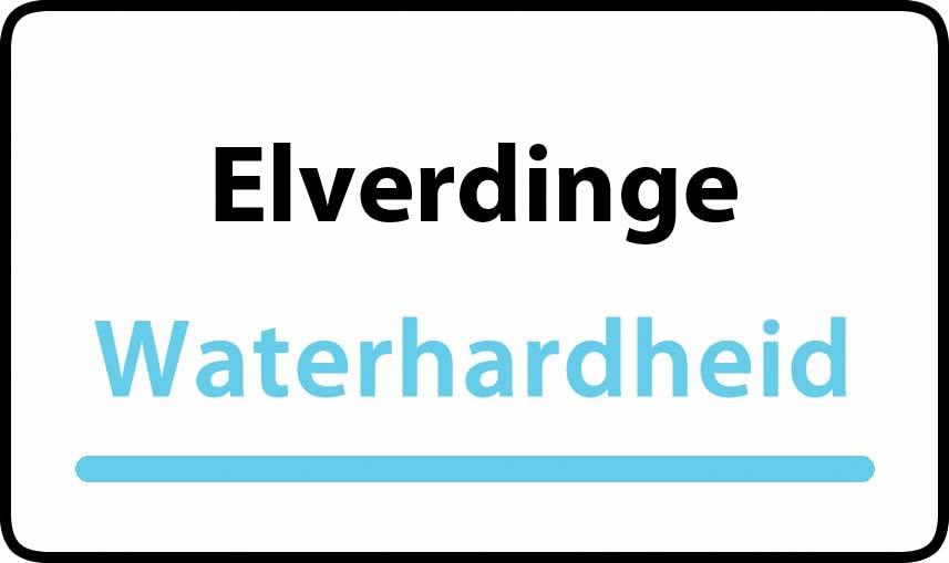 waterhardheid in Elverdinge is zeer hard water 45 °F Franse graden