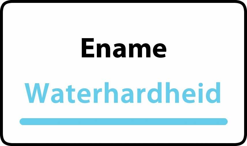 waterhardheid in Ename is hard water 40 °F Franse graden