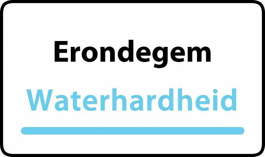 waterhardheid in Erondegem is middel hard water 23 °F Franse graden
