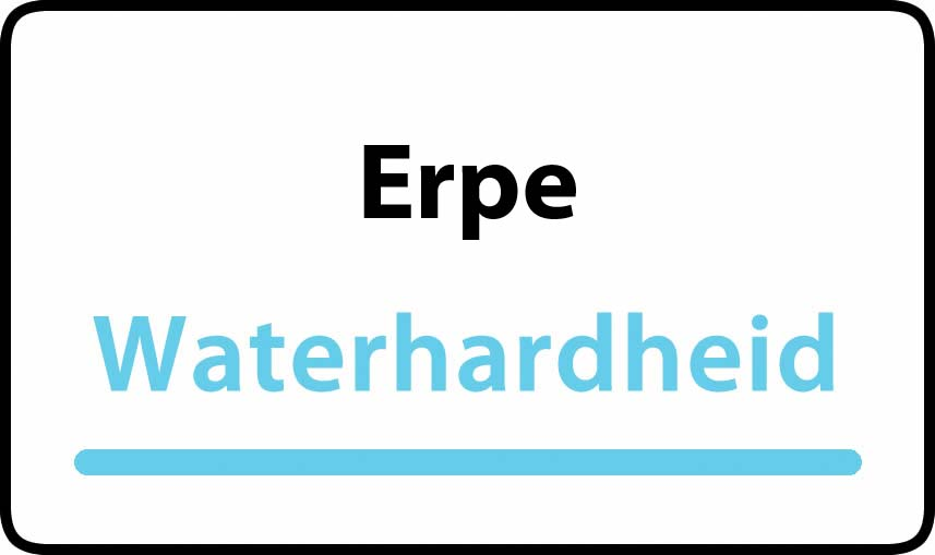 waterhardheid in Erpe is middel hard water 23 °F Franse graden