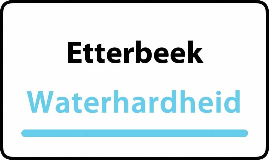 waterhardheid in Etterbeek is hard water 36 °F Franse graden