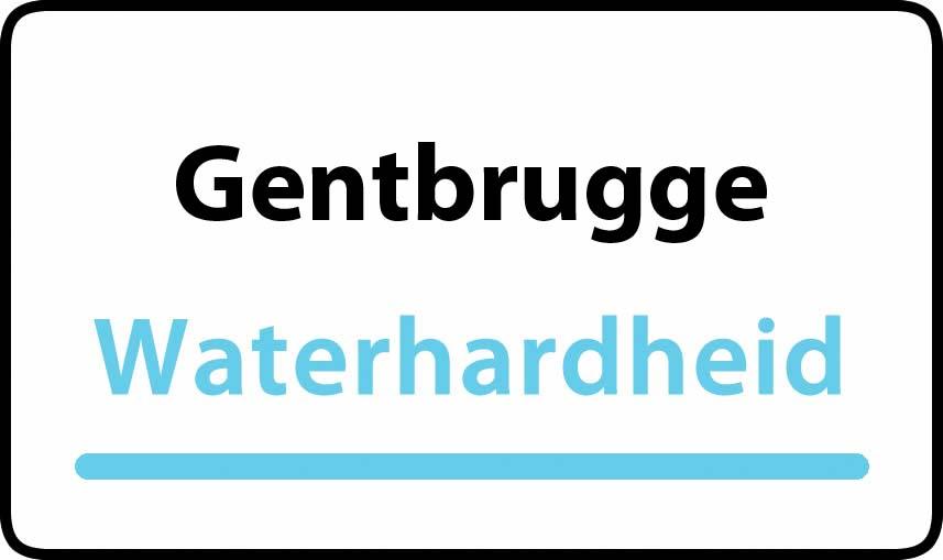 waterhardheid in Gentbrugge is middel hard water 23 °F Franse graden