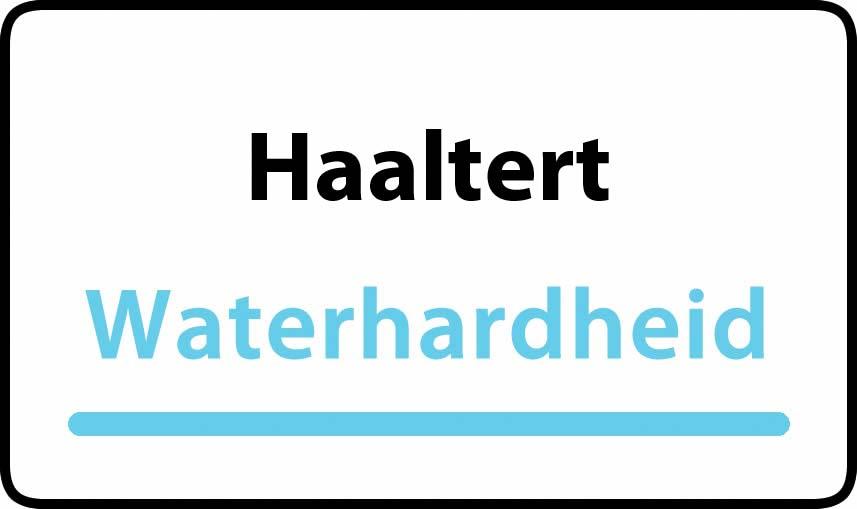 waterhardheid in Haaltert is zeer hard water 52 °F Franse graden