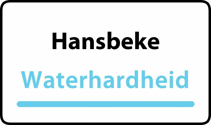 waterhardheid in Hansbeke is hard water 39 °F Franse graden