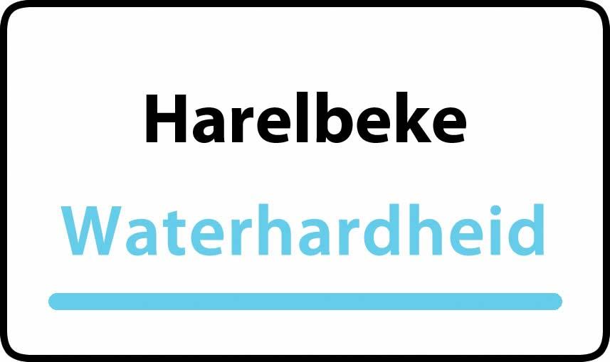 waterhardheid in Harelbeke is hard water 33 °F Franse graden