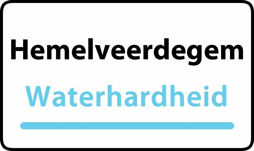waterhardheid in Hemelveerdegem is hard water 39 °F Franse graden