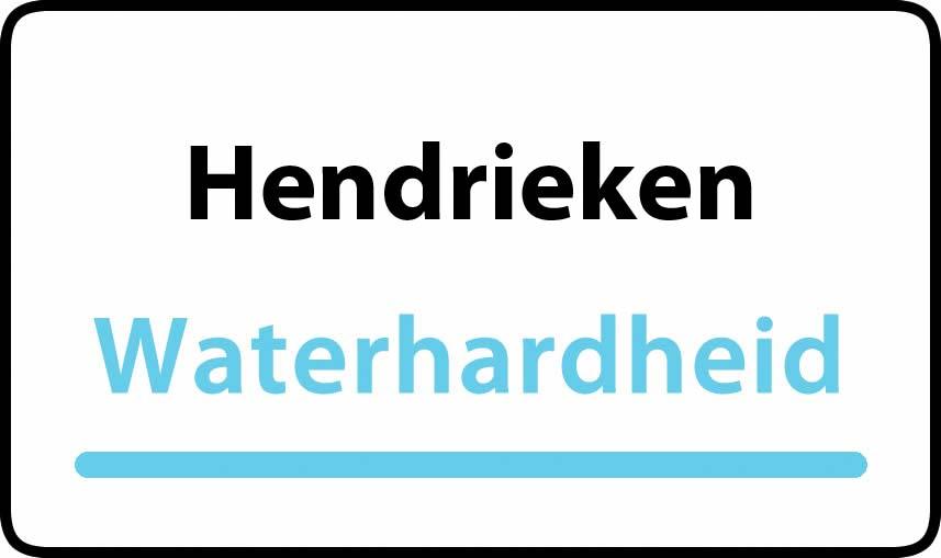 waterhardheid in Hendrieken is hard water 37 °F Franse graden