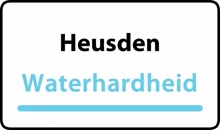 waterhardheid in Heusden is middel hard water 22 °F Franse graden