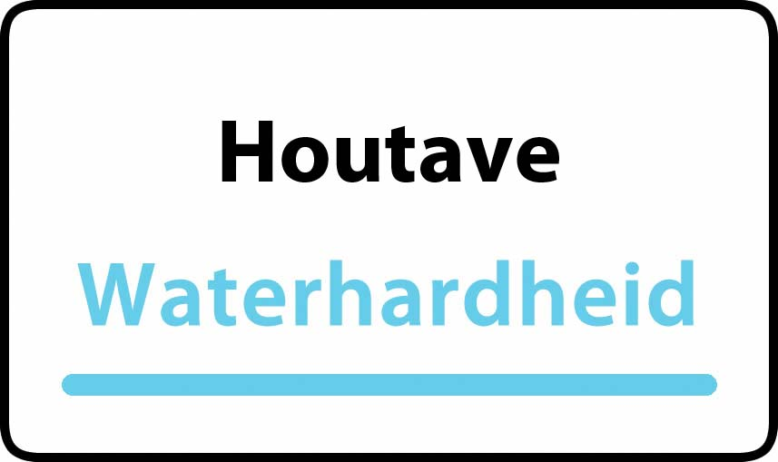 waterhardheid in Houtave is hard water 35 °F Franse graden