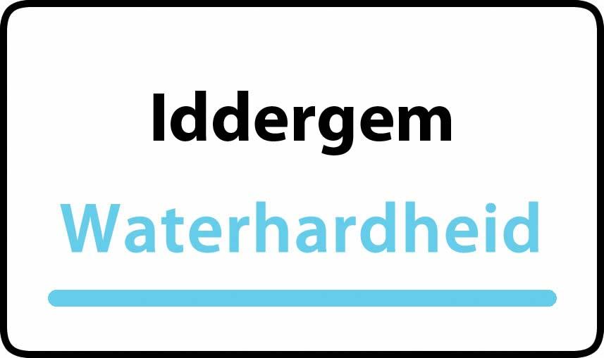 waterhardheid in Iddergem is hard water 34 °F Franse graden