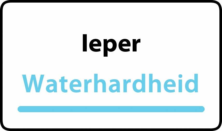 waterhardheid in Ieper is zeer hard water 45 °F Franse graden