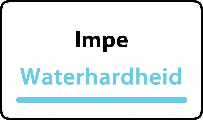 waterhardheid in Impe is middel hard water 23 °F Franse graden