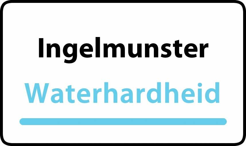 waterhardheid in Ingelmunster is hard water 34 °F Franse graden