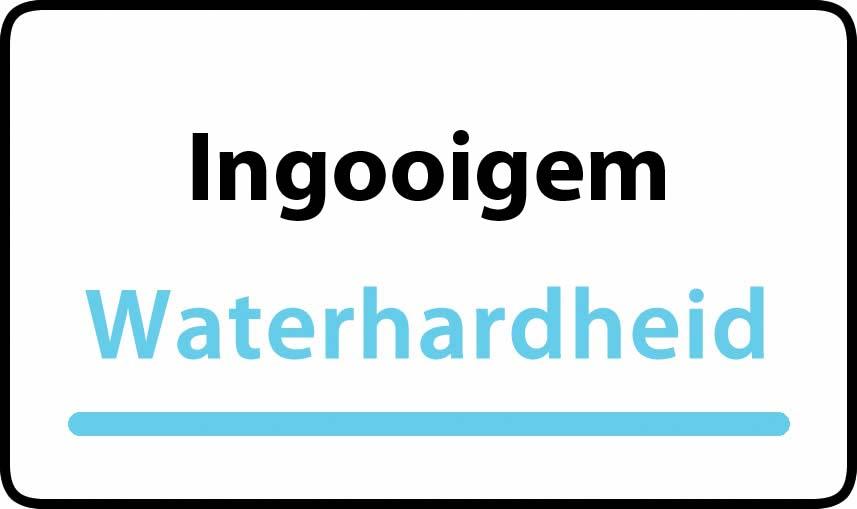 waterhardheid in Ingooigem is zeer hard water 46 °F Franse graden