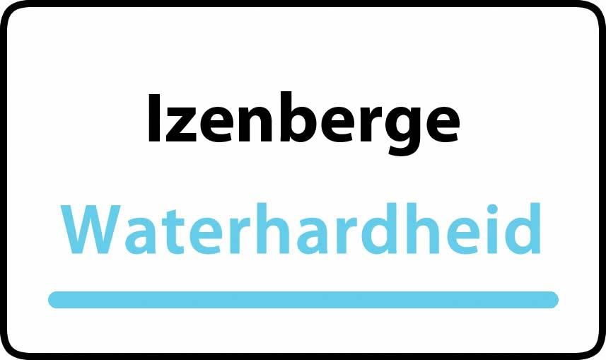 waterhardheid in Izenberge is hard water 40 °F Franse graden