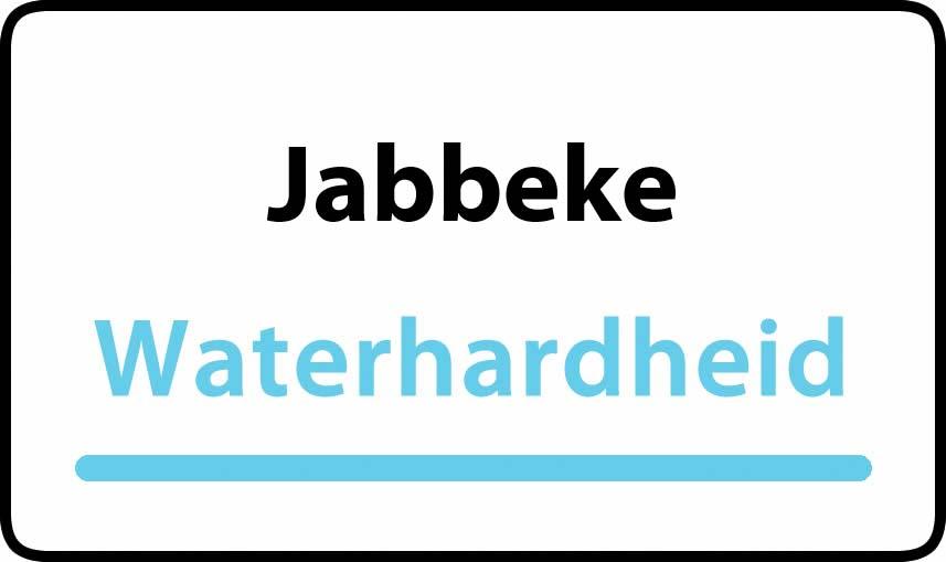 waterhardheid in Jabbeke is hard water 34 °F Franse graden