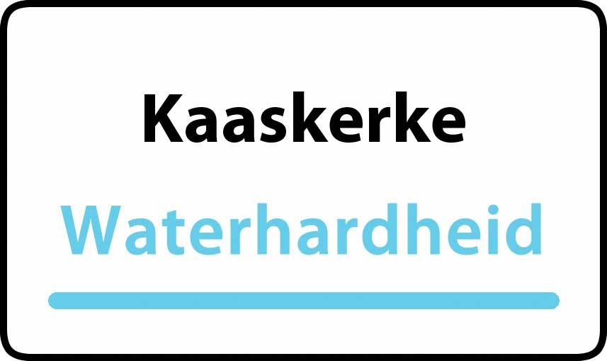 waterhardheid in Kaaskerke is middel hard water 27 °F Franse graden