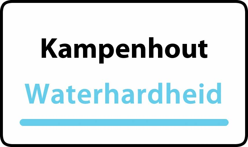 waterhardheid in Kampenhout is hard water 38 °F Franse graden