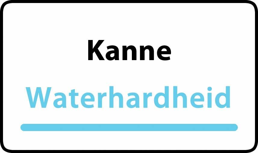 waterhardheid in Kanne is hard water 37 °F Franse graden