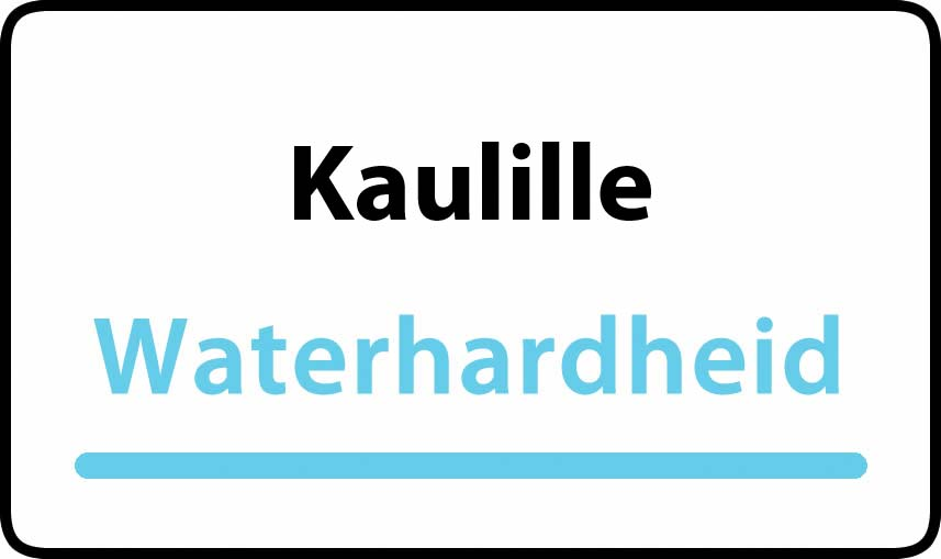 waterhardheid in Kaulille is middel hard water 15 °F Franse graden